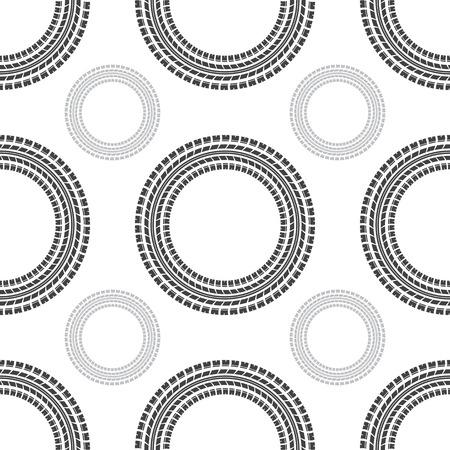 skidding: Seamless gray circle tire track background