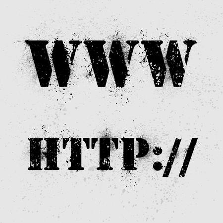 https: Internet grunge text on ink blots background