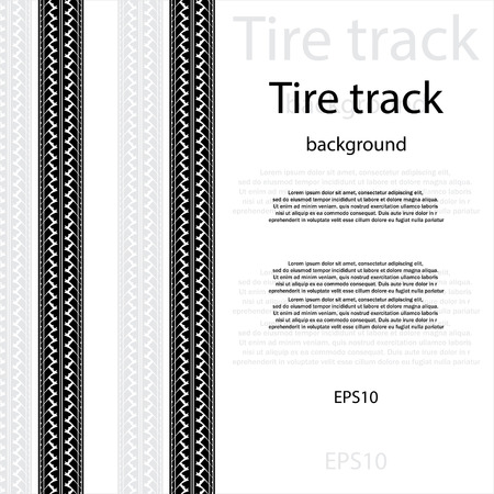 skidding: Black tire track silhouette with text and shadow Illustration