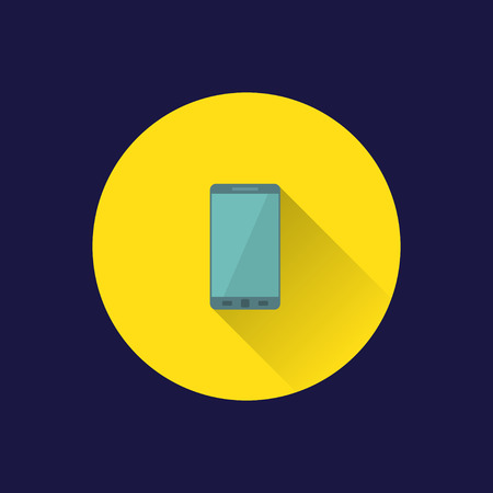 palmtop: Dark background with flat phone icon.