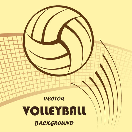 pursuit: Abstract yellow volleyball silhouette with background and text.