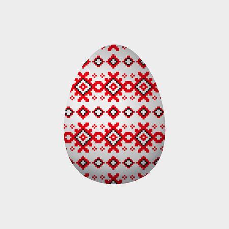 赤と黒のピクセルとのシームレスなパターンを正方形します。eps10