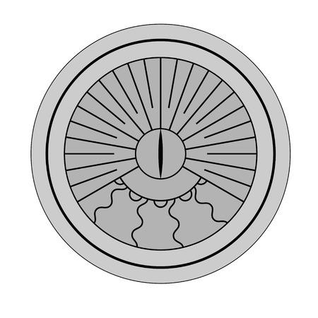 reloj de sol: Gray silueta reloj de sol aislado en el fondo blanco Vectores