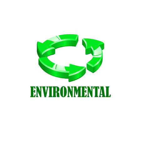 recycling campaign: Icon of environmental conservation in various colors