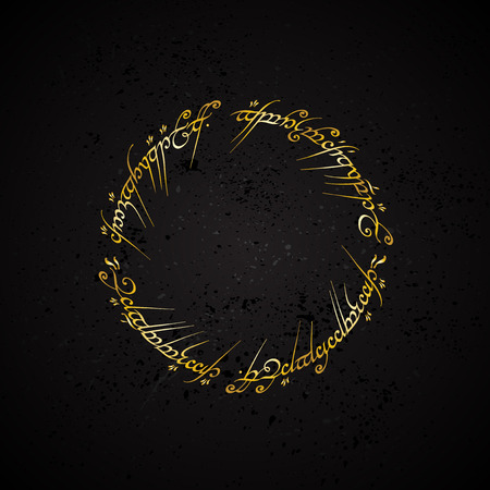 eastern spirituality: Black grunge background with golden arabic text in circle