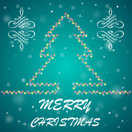 bright lights: Bright holiday background with many lights and text