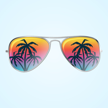 Sunglasses with palms