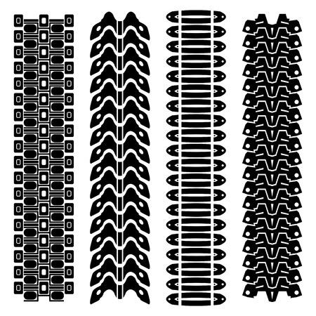 Tank tire tracks
