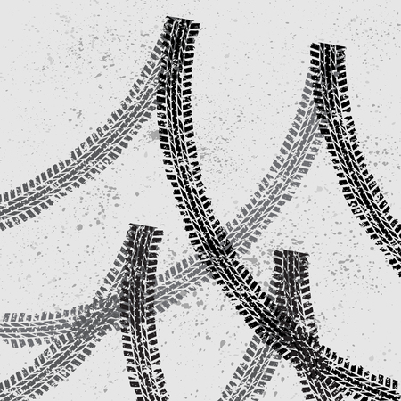 Car tire track background
