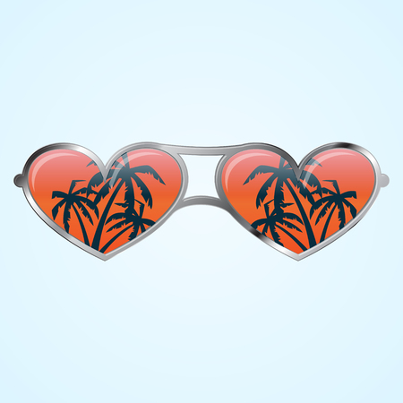 Heart shape glasses
