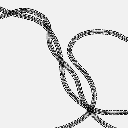 Three tire tracks Illustration