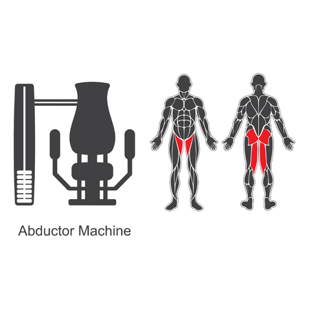 Gym abductor machine