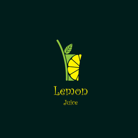 soda: Lemonade abstract icon
