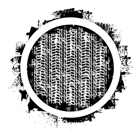 Grunge tire track and circle