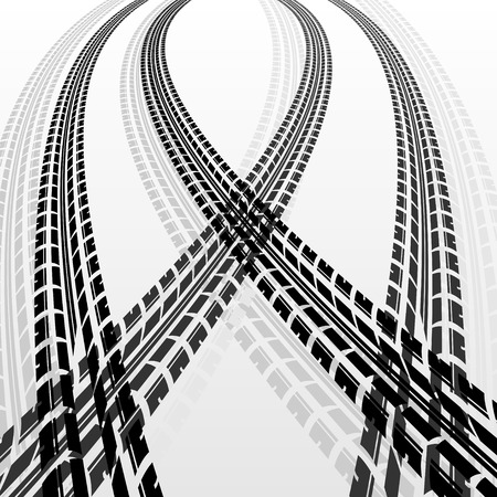 Warp tire tracks Illustration