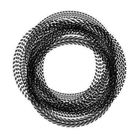 Circle tire tracks Illustration