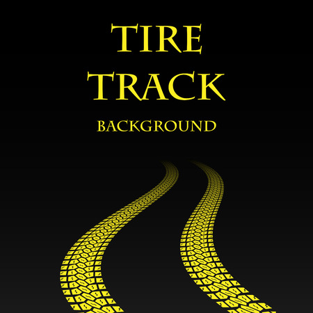 Yellow warp tire track