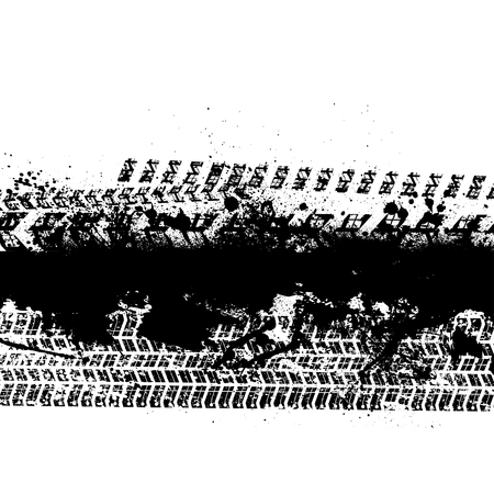 motor racing: Grunge blots with stripes Illustration