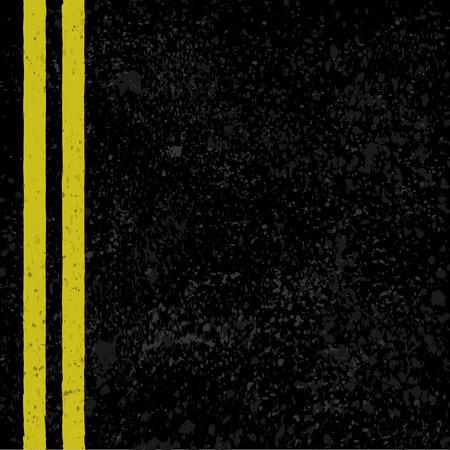 Asphalt with road lines. Illustration