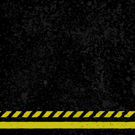 Asphalt with yellow lines Illustration