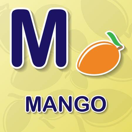 colour image: Mango alphabet background Illustration