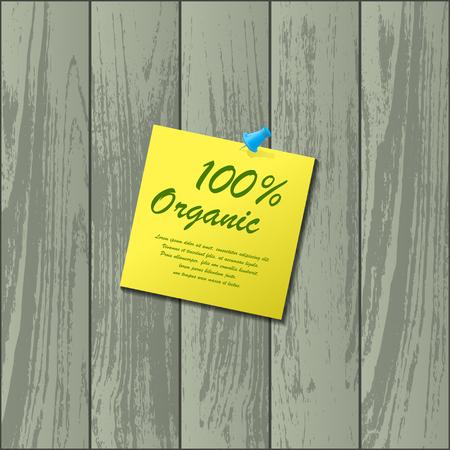 flooring: Yellow sticker with needle Illustration