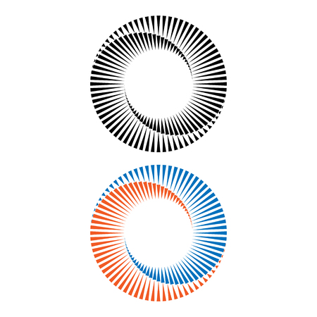 Two abstract spirals Illustration
