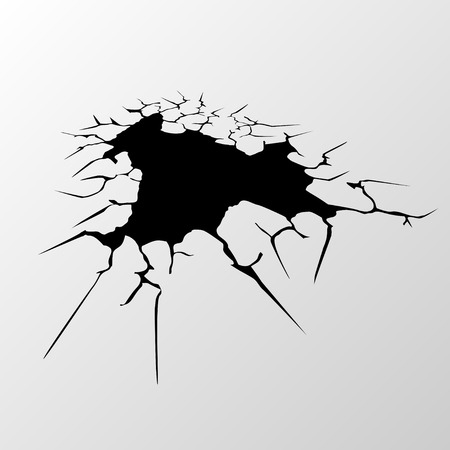 Cracks gray background