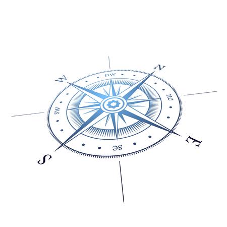 Perspectiva rosa de los vientos Ilustración de vector