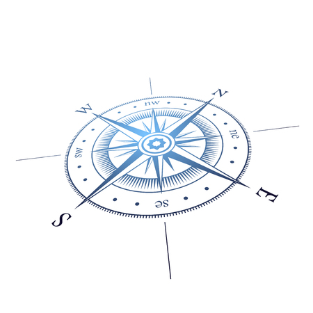 Perspective de la rose de vent Vecteurs
