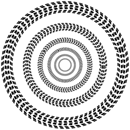 Circle tire track background