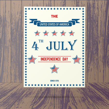 americas: USA independence day placard