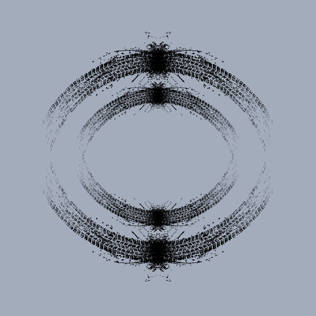 Grunge circle tire tracks