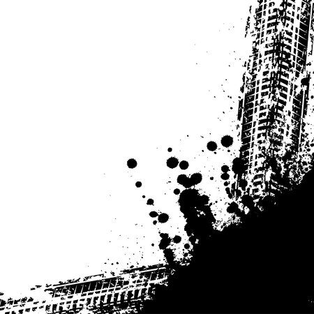car tire: Black tire track background Illustration