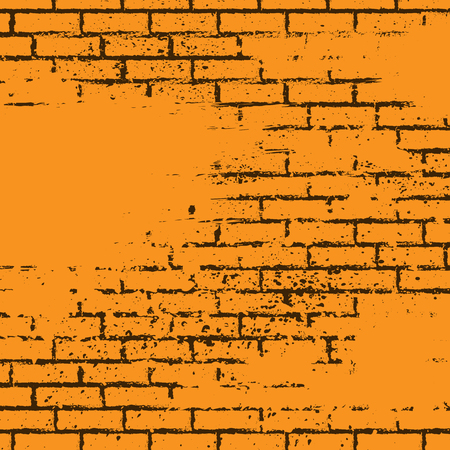 Orange grunge brick wall