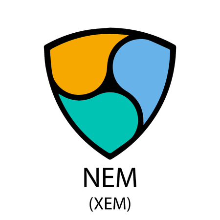 Nem cryptocurrency symbol