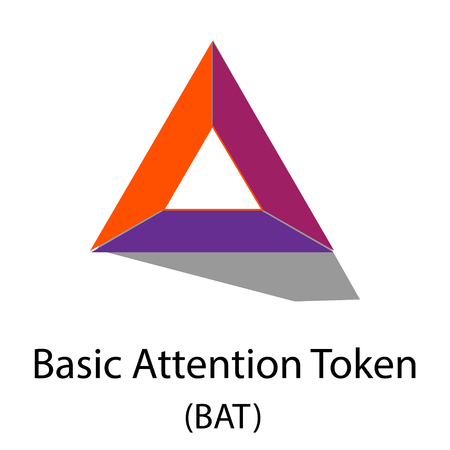 Bat crypto-currency symbol isolated on white background. Иллюстрация