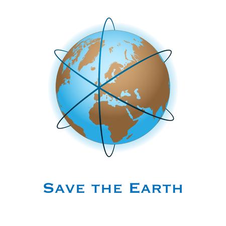 Save the earth concept illustration Vettoriali