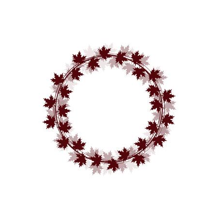 Circle dark leaves Vector illustration.