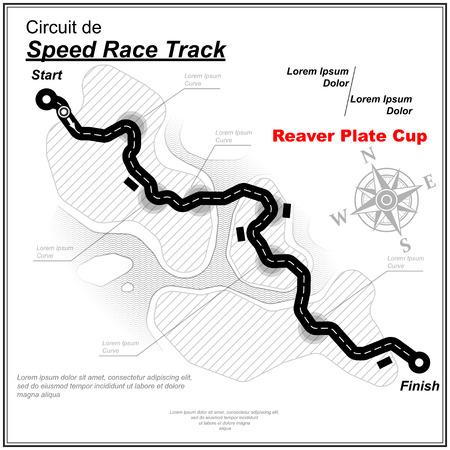 Eaglesong highway speed track wallpaper Vector illustration.