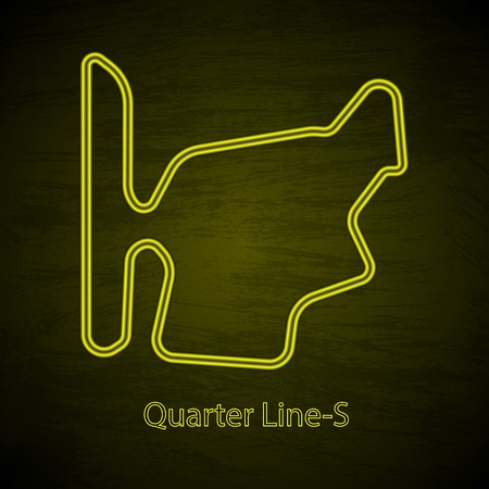 Mountain rally drive circuit outline on plain background