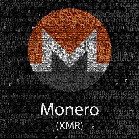 Monero cryptocurrency background on plain background Illustration