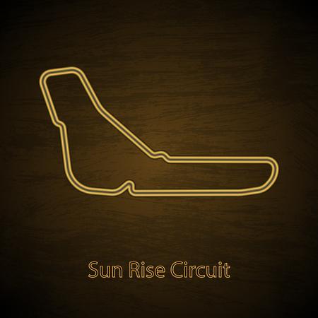 Highway motosport circuit outline Vector illustration. Ilustração