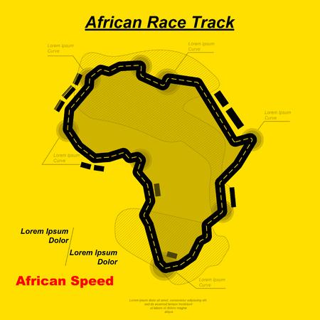 African track background Vector illustration.