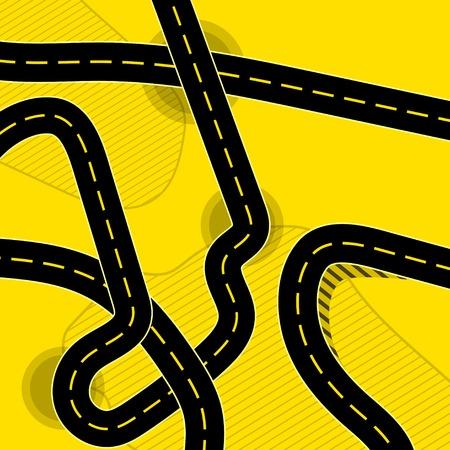 Different roads background Illustration