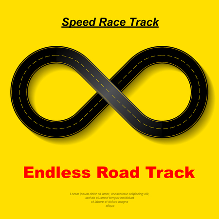 Endless race background in yellow background