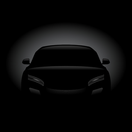 Black car silhouette
