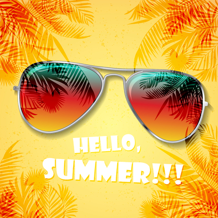 Summer glasses background