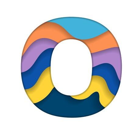 Colorful letter O Illustration
