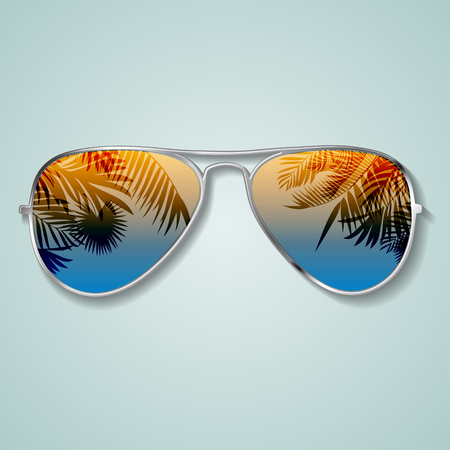 Summer glasses vector illustration